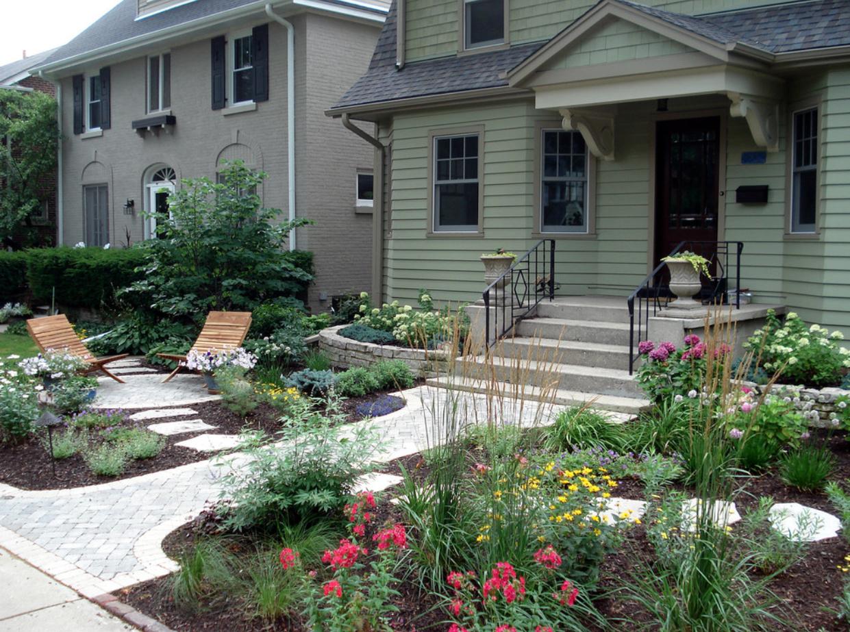 Благоустроенный двор частного дома фото своими руками 97