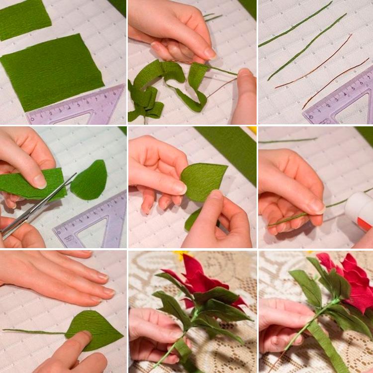 Как сделать листиками своими руками 828