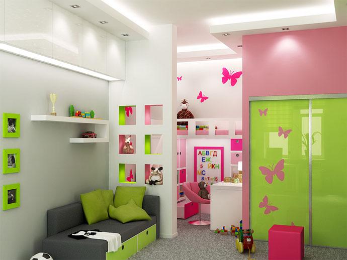 Детям до десяти лет необходима практичная и удобная мебель без острых уголков.