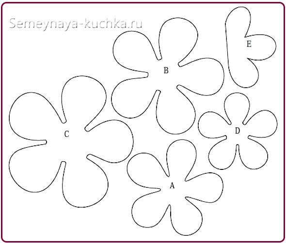 Шаблоны для бумажных цветов своими руками 61