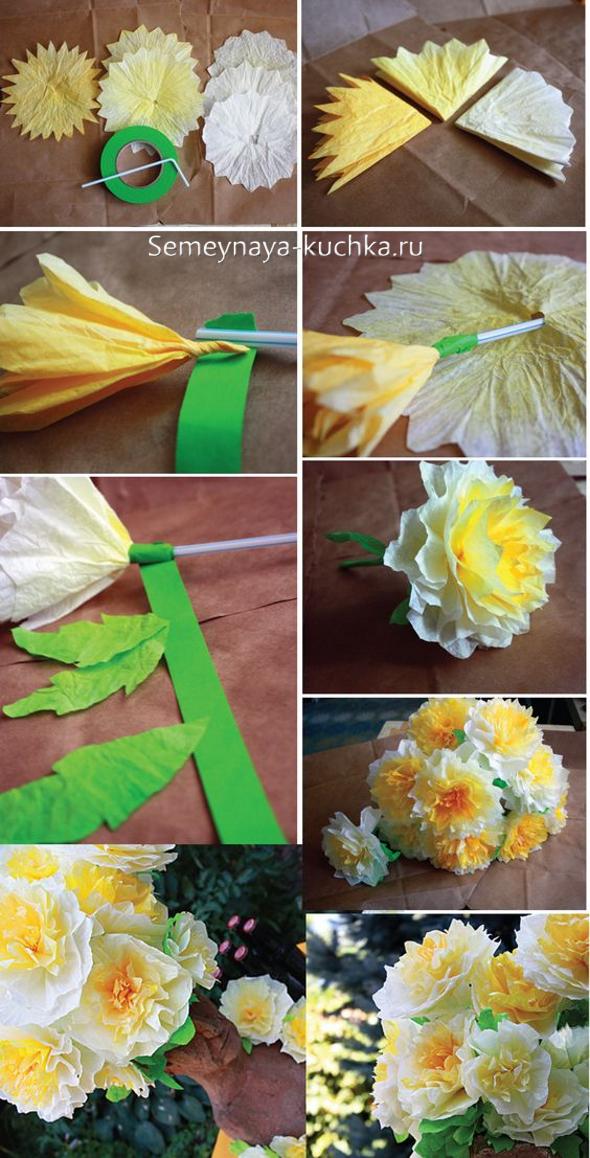 Цветы на из бумаги своими руками 74