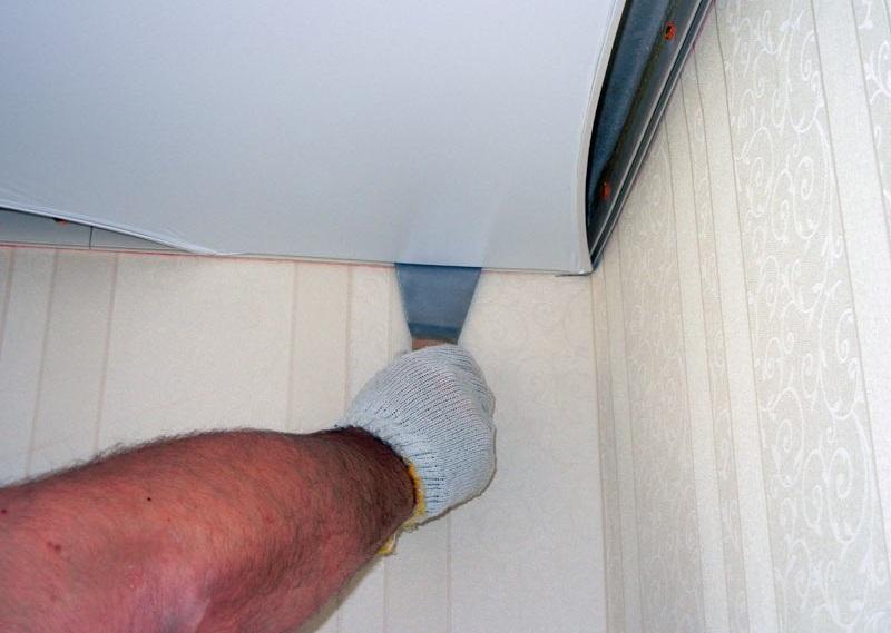 Как сделать переход от потолка к стене 656