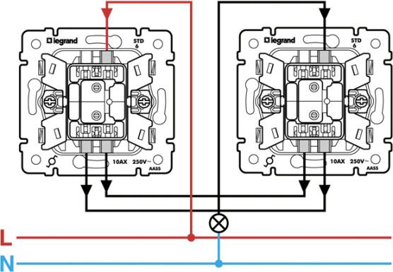 Werkel проходной выключатель схема подключения5